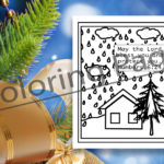 FREE Rainy Day Coloring Page